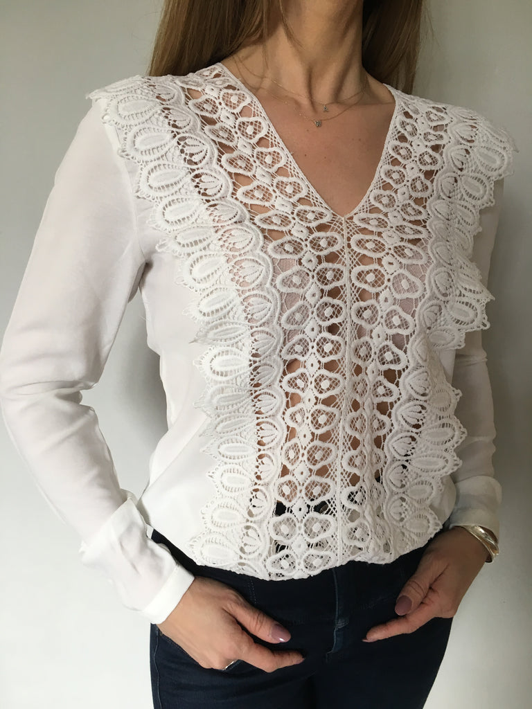 Cubic Lace panelled top