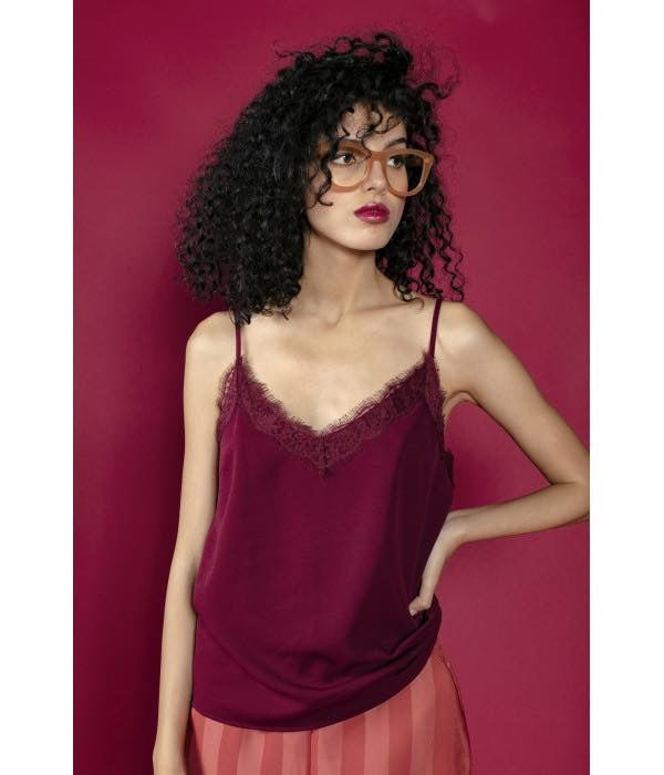 Richie Camisole Top - claret