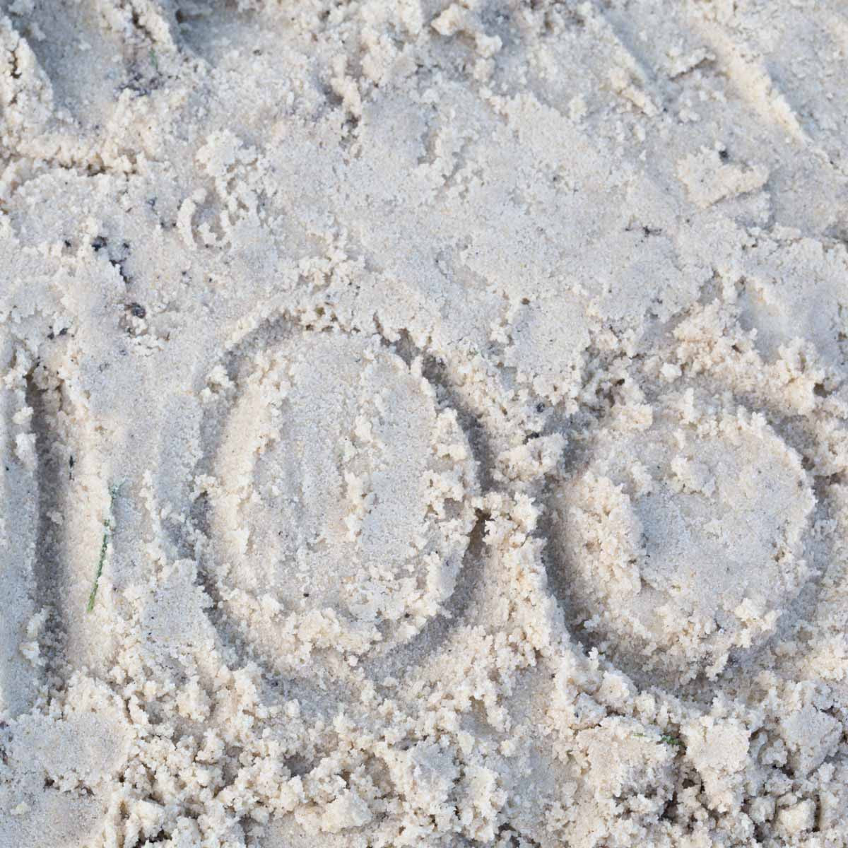 100 in sand