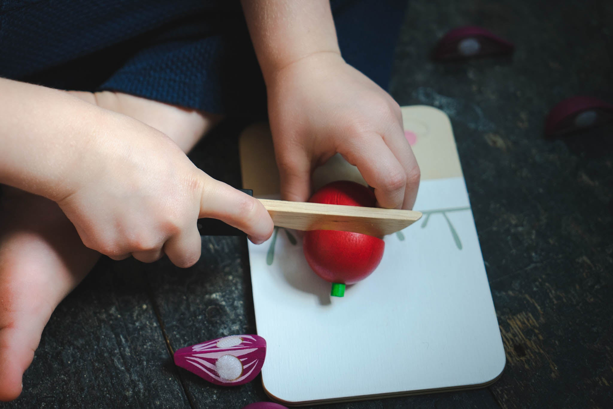 Learning maths through play - chopping food and division