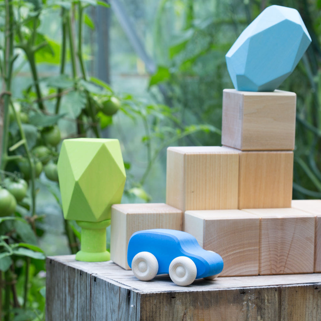 Grimm's giant building blocks and wooden gems
