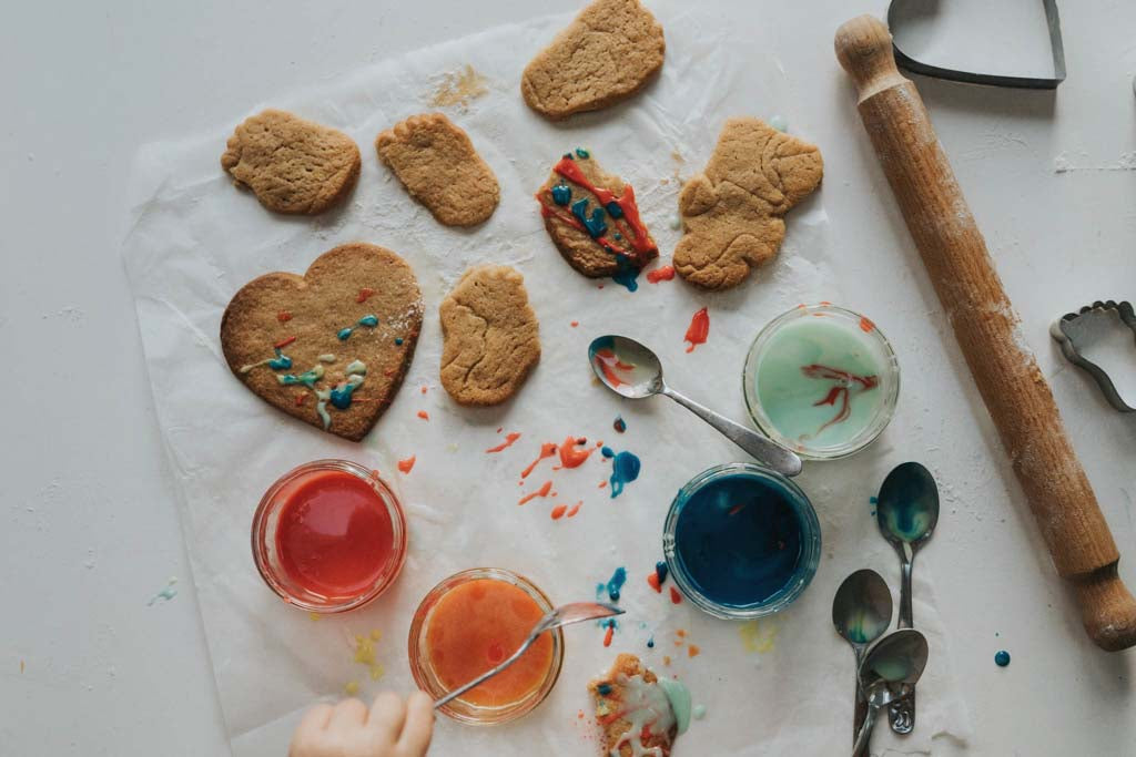 Making biscuits with children