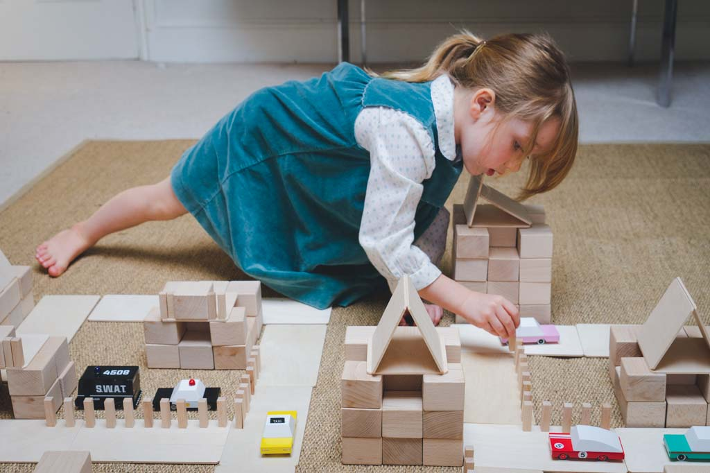 Playing with a variety of blocks