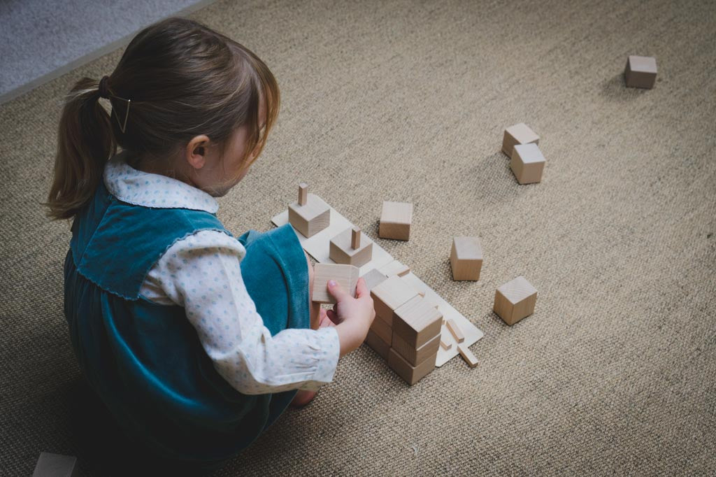 Playing with blocks to build self efficacy