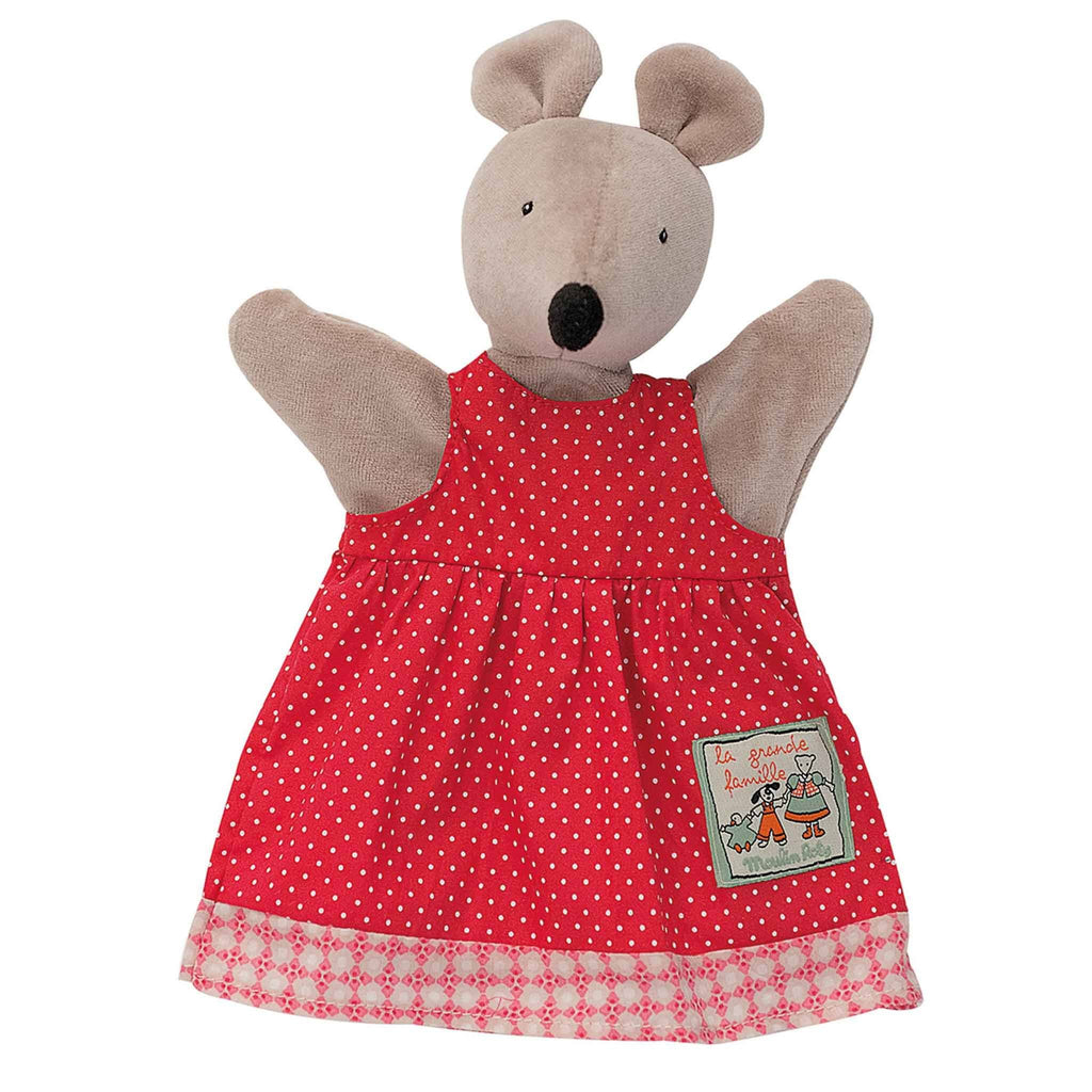 Moulin Roty Nini the mouse hand-puppet