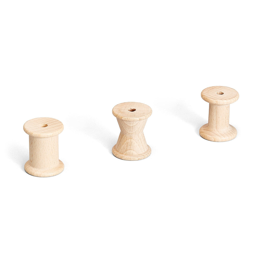 Grapat Wooden Spools in Natural Wood 1