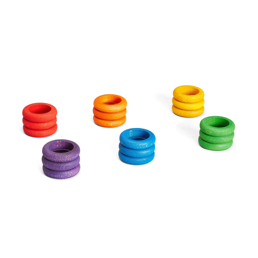 Grapat Loose Parts: Rings In 6 Bright Colours [18]