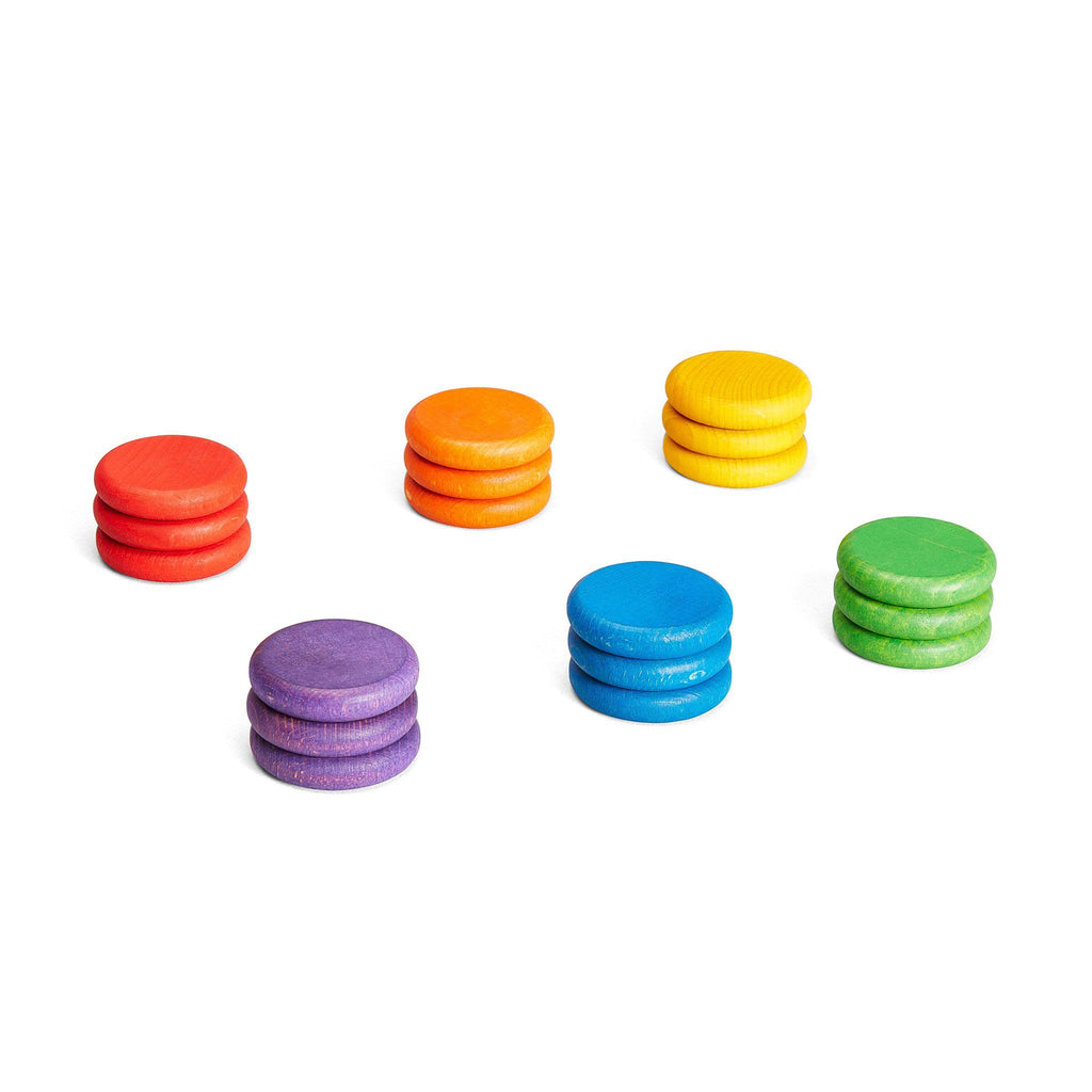 Grapat Loose Parts: Coins in 6 Bright Colours [18]