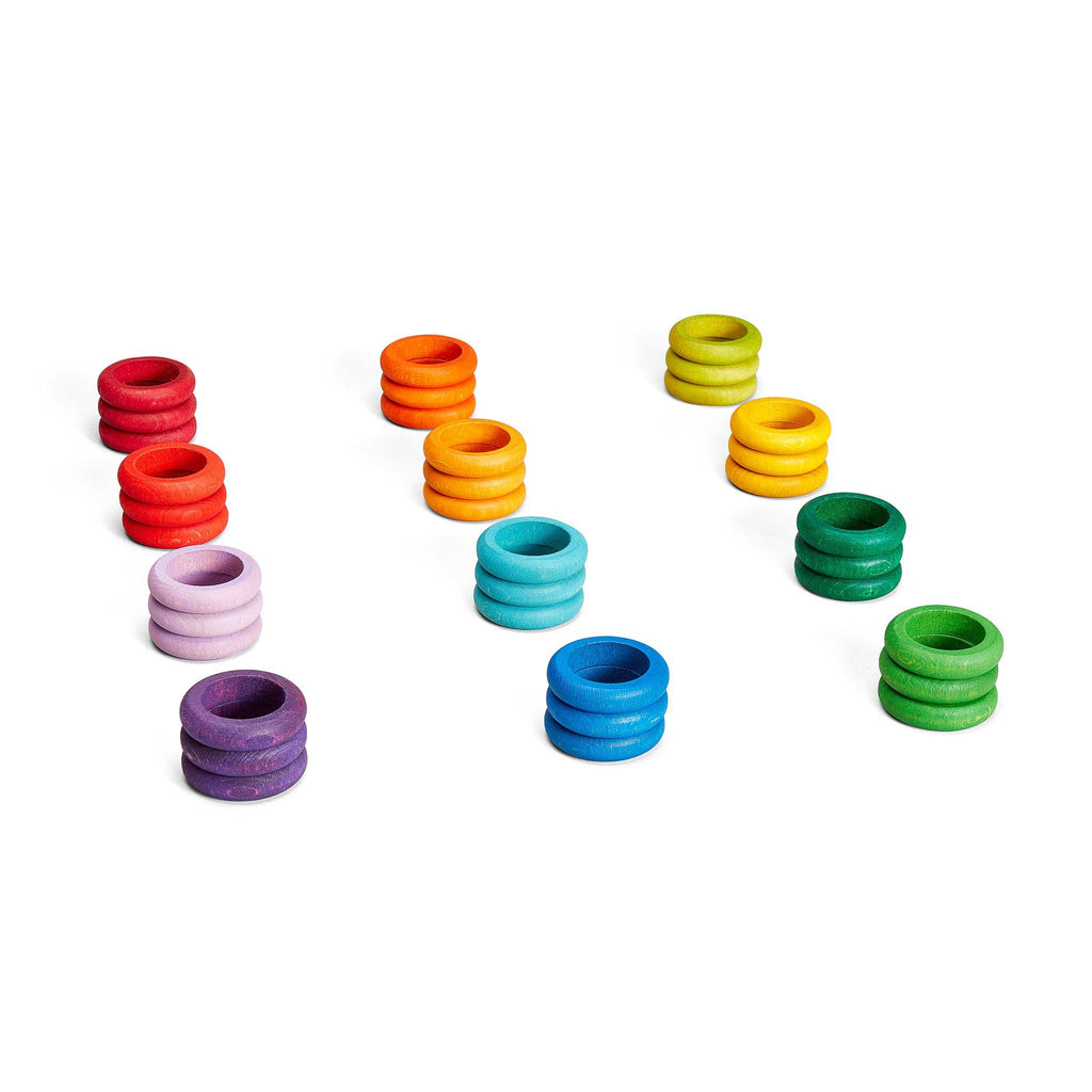 Grapat Loose Parts: Rings in 12 Bright Colours [36]