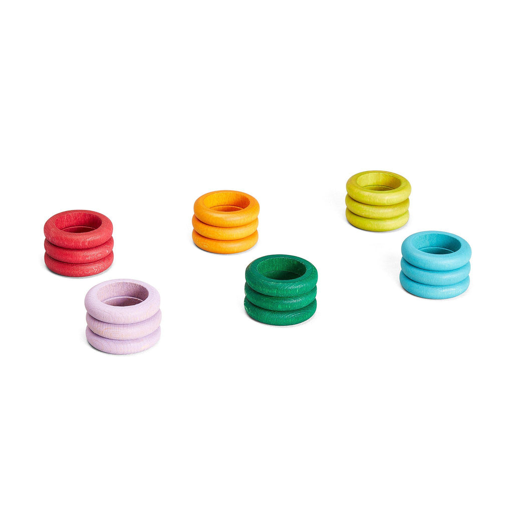 Grapat Loose Parts: Rings in 6 Subtle Colours [18]