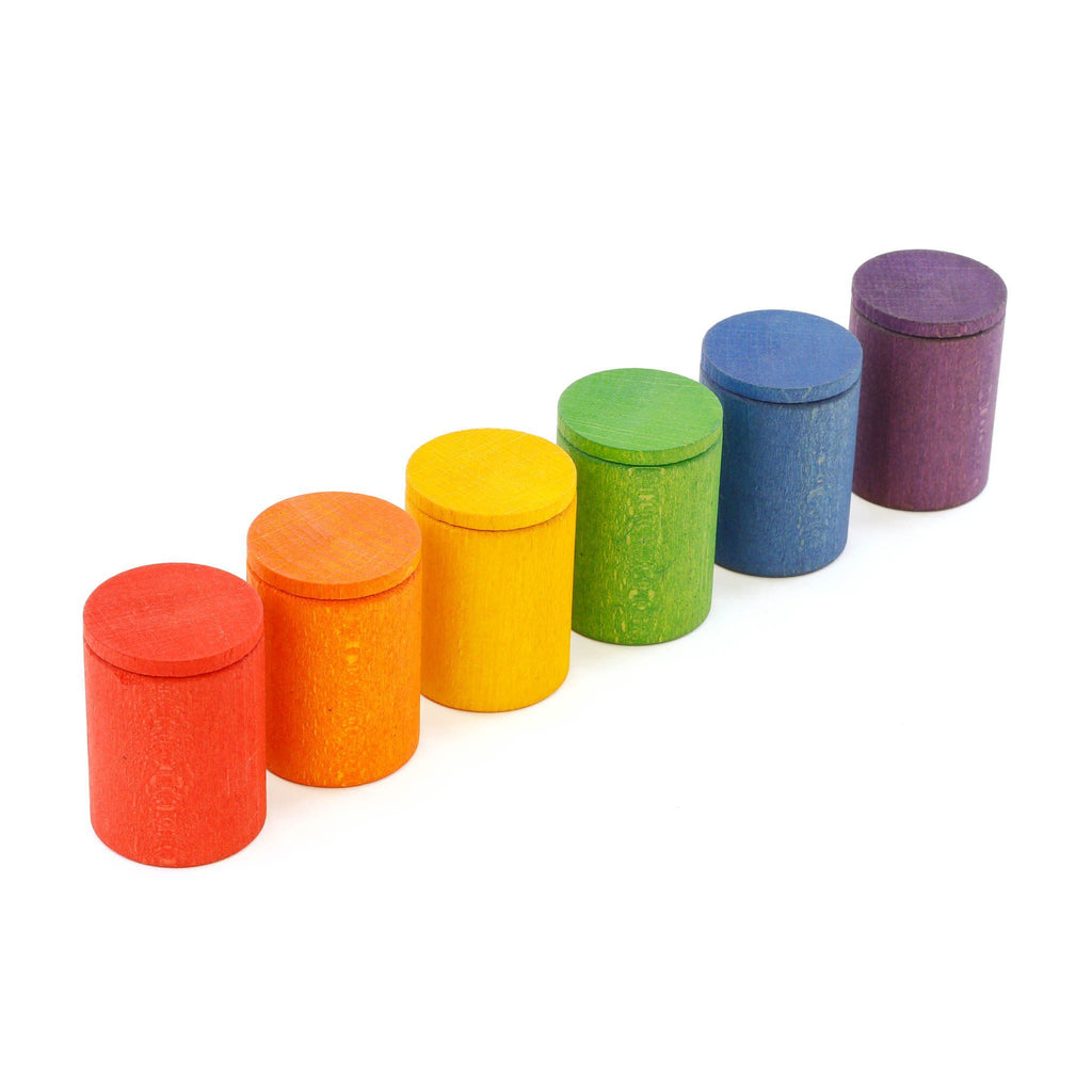 Grapat Wooden Cups with Lids [six]
