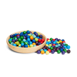 Grimm's 12mm Coloured Threading Beads [480] 2