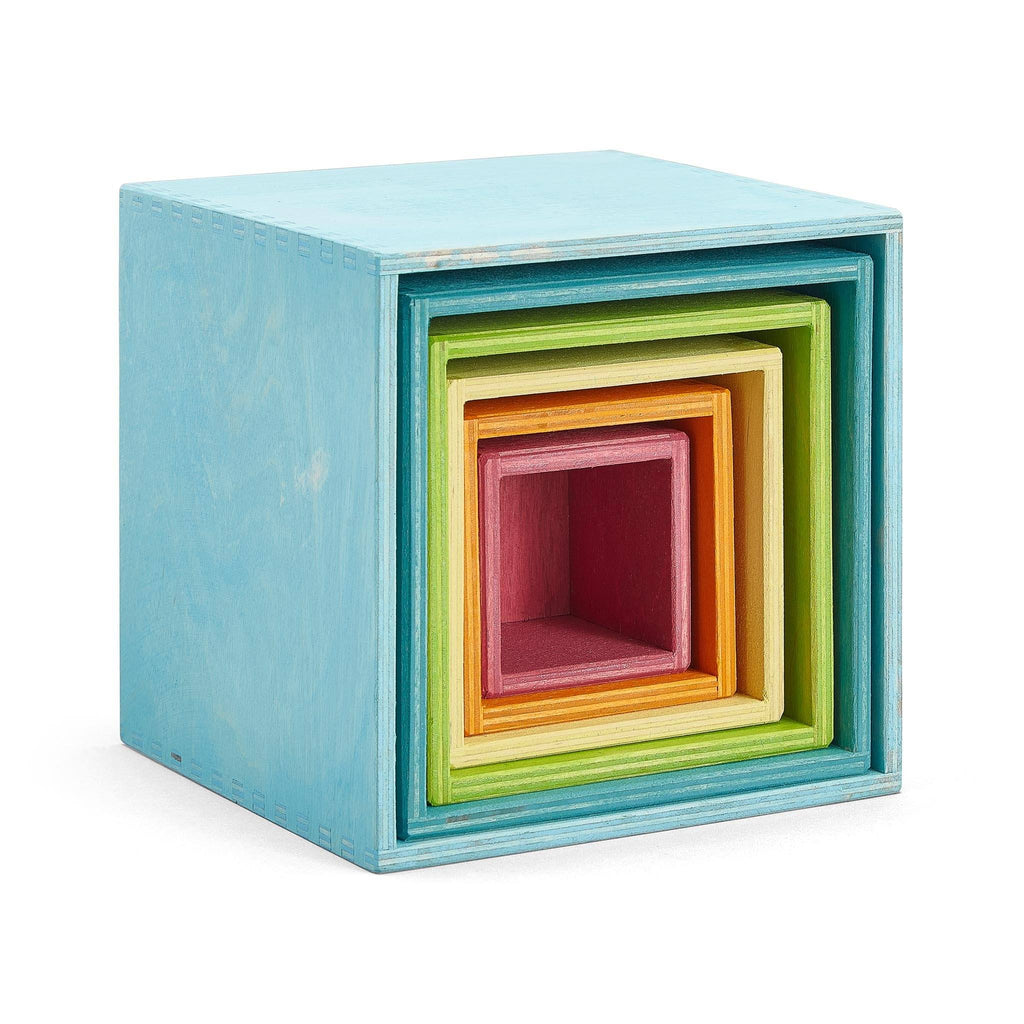 Grimm's Large Set of Boxes in pastel