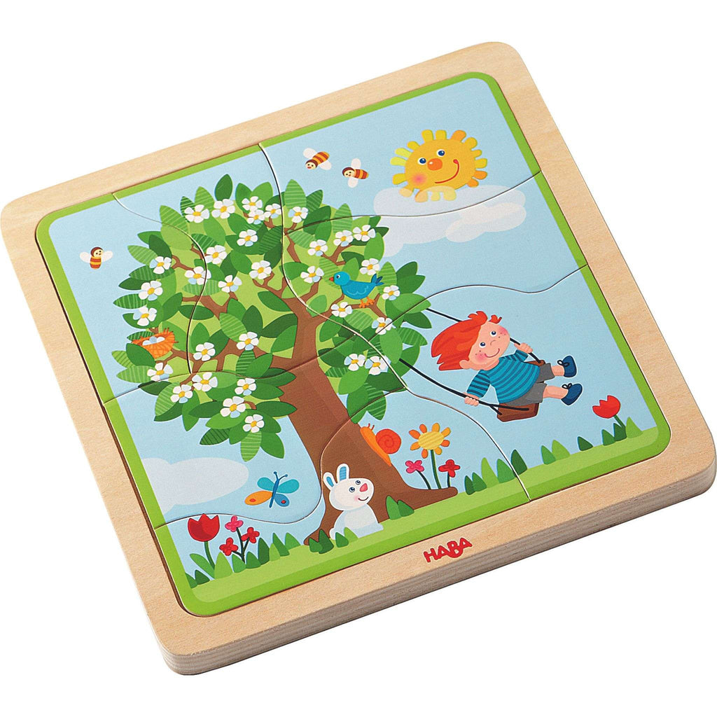 HABA Wooden puzzle My time of year