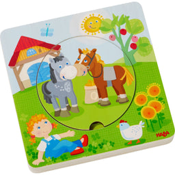 HABA Wooden puzzle Farm friends