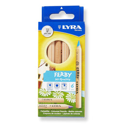 Lyra Ferby Unlacquered Pencils 6 Triangular