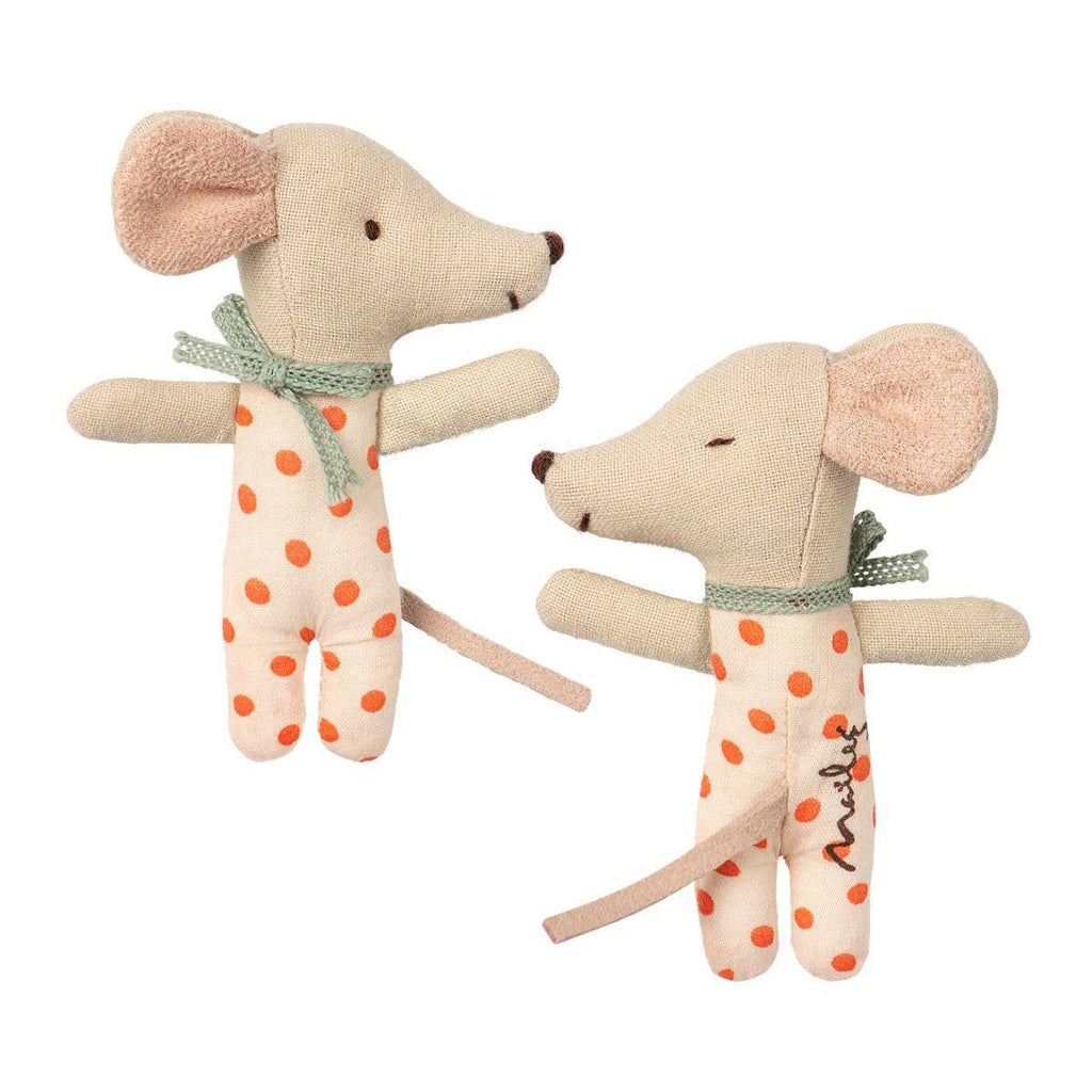 Maileg Baby Mouse Sleepy/Wakey In Box - Girl 1