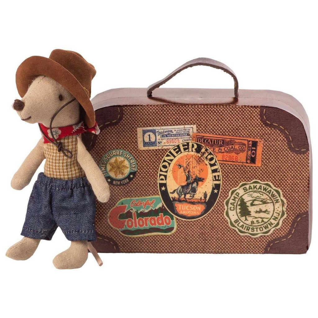 Maileg Cowboy In Suitcase Little Brother Mouse