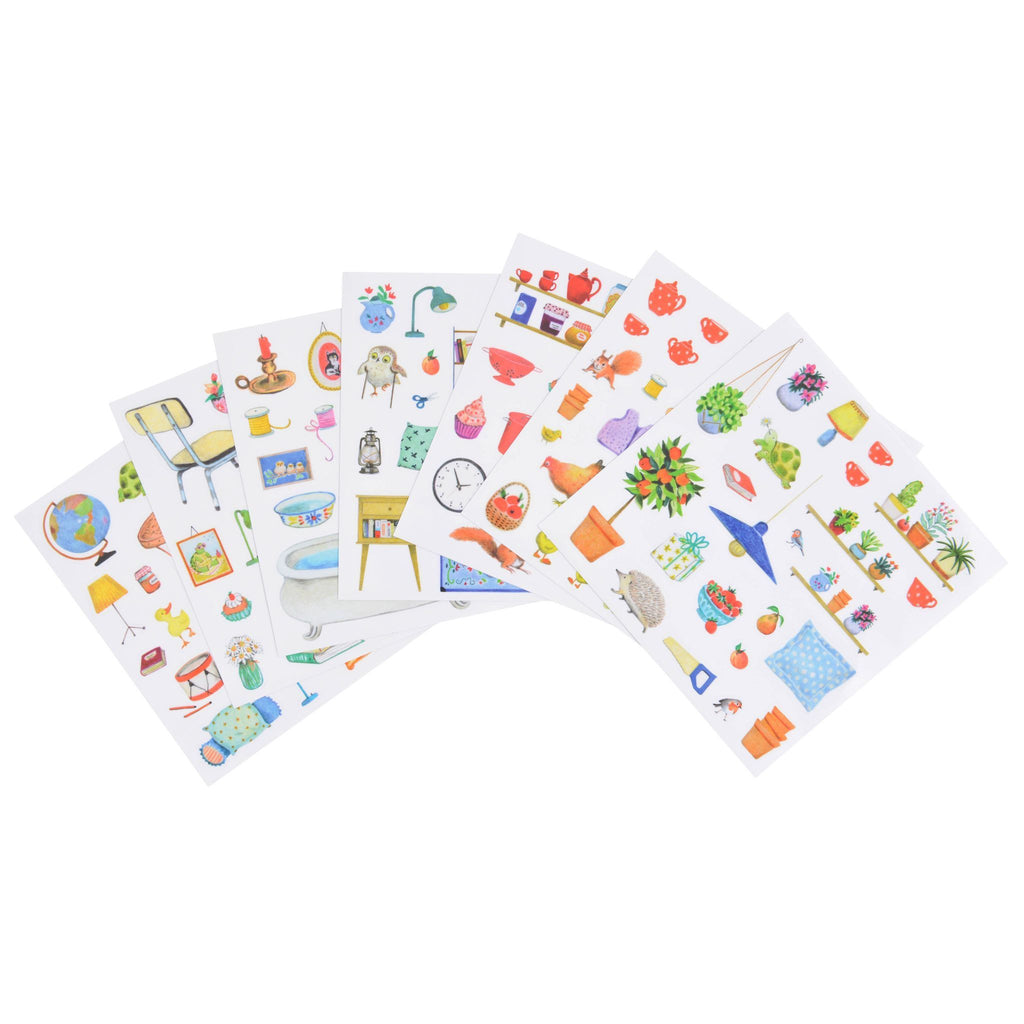 Moulin Roty Sticker Book La Grande Famille 2