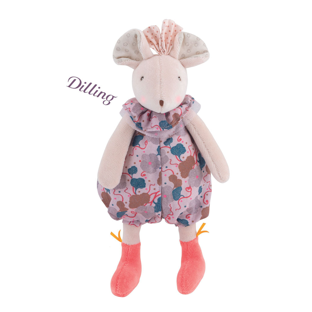 Moulin Roty Pink Mouse Rattle