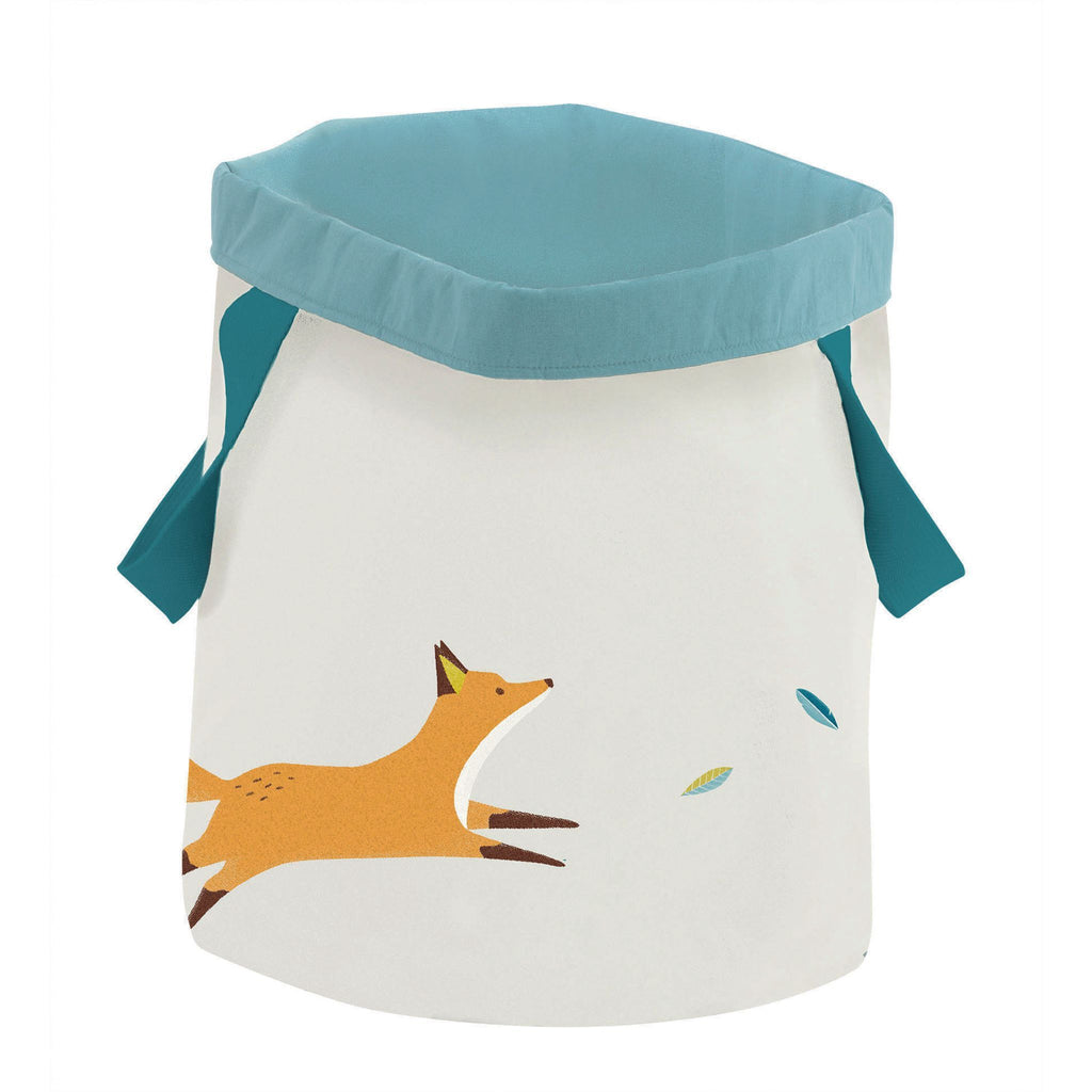 Moulin Roty Round Basket With Fox Design
