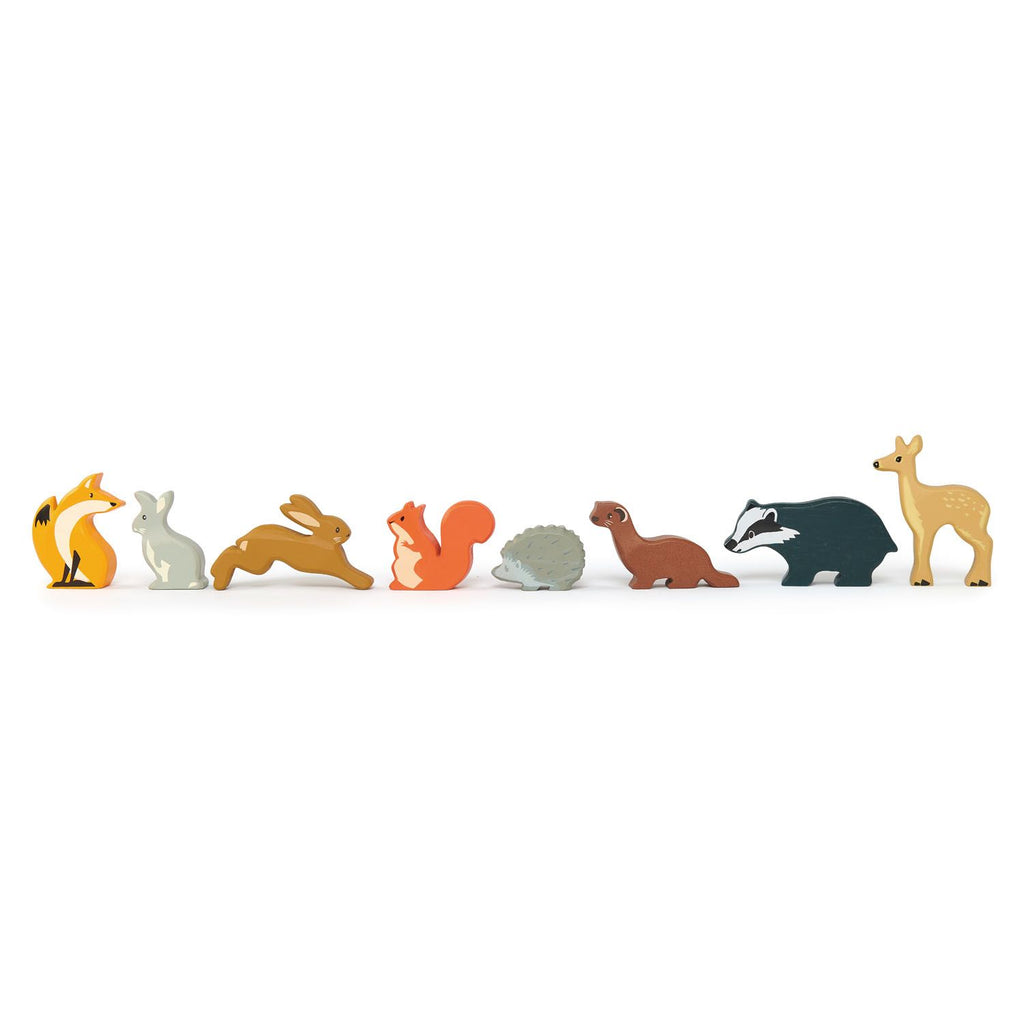 Tender Leaf Toys Woodland Animals Shelf Set