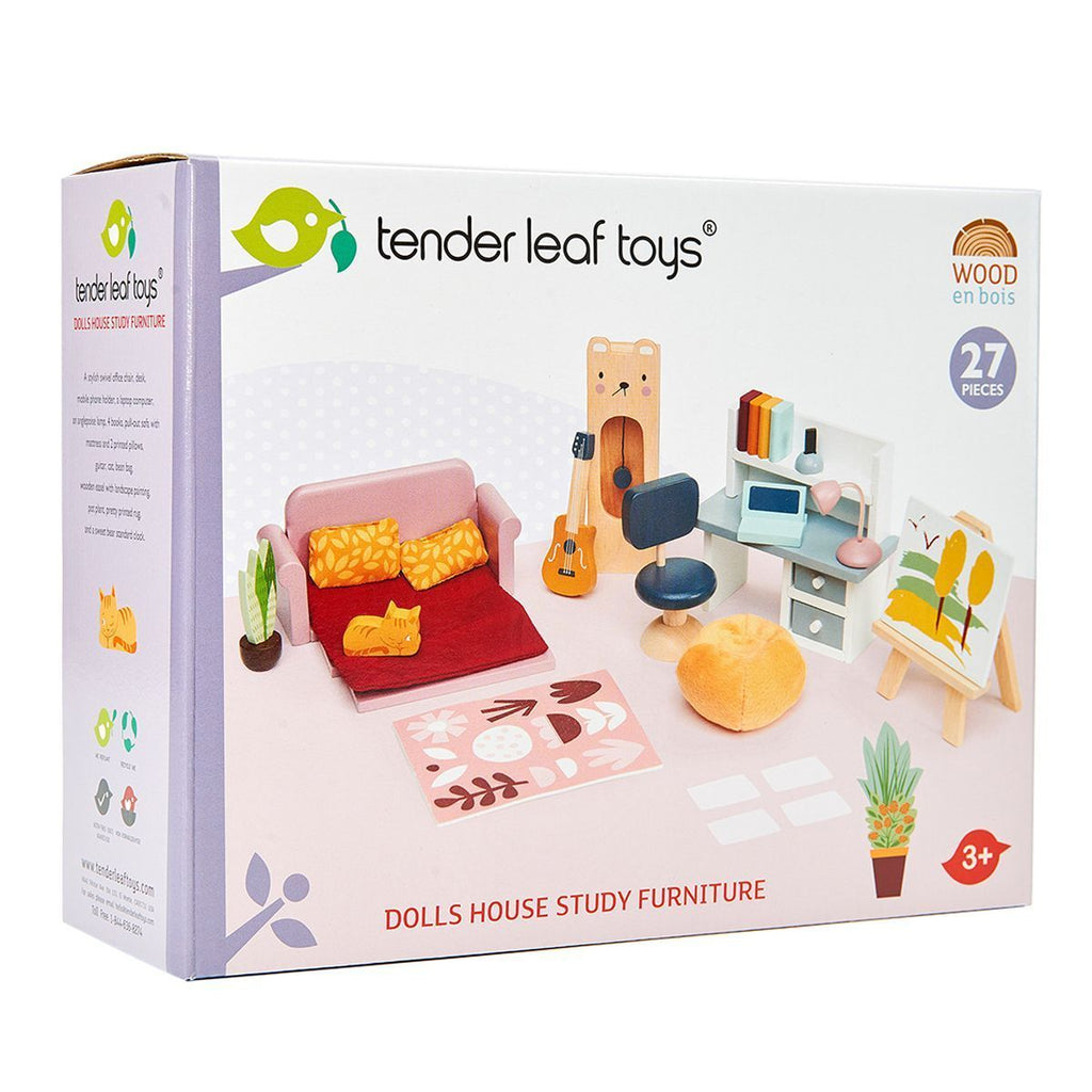 Tender Leaf Toys Dolls House Study Furniture
