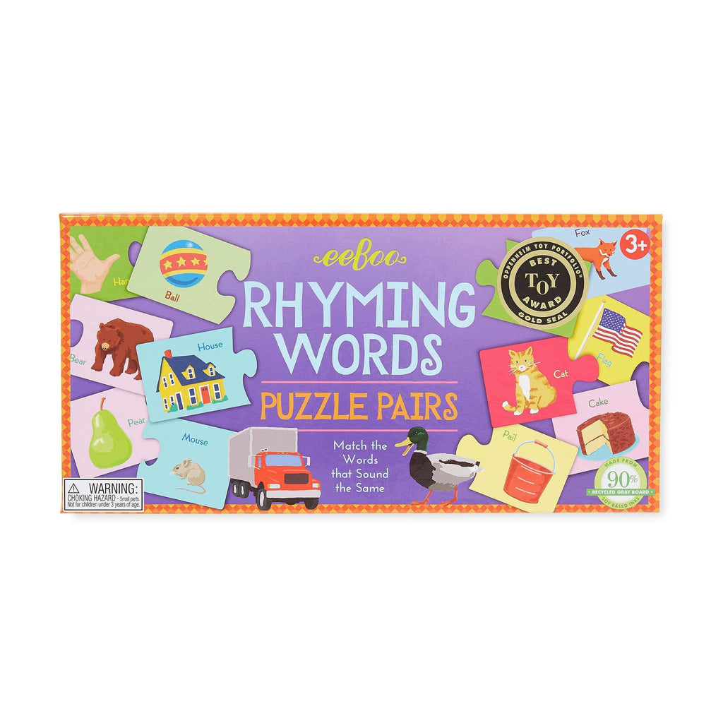 eeBoo Rhyming Words Puzzle Pairs