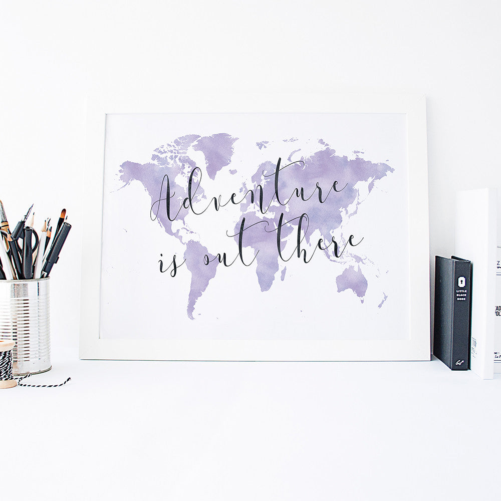 Adventure is out there art print by Beau Typographie