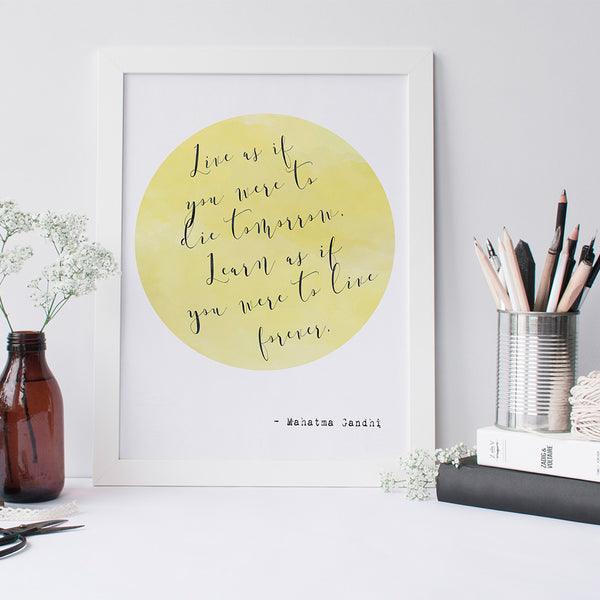 Gandhi quote art print by Beau Typographie