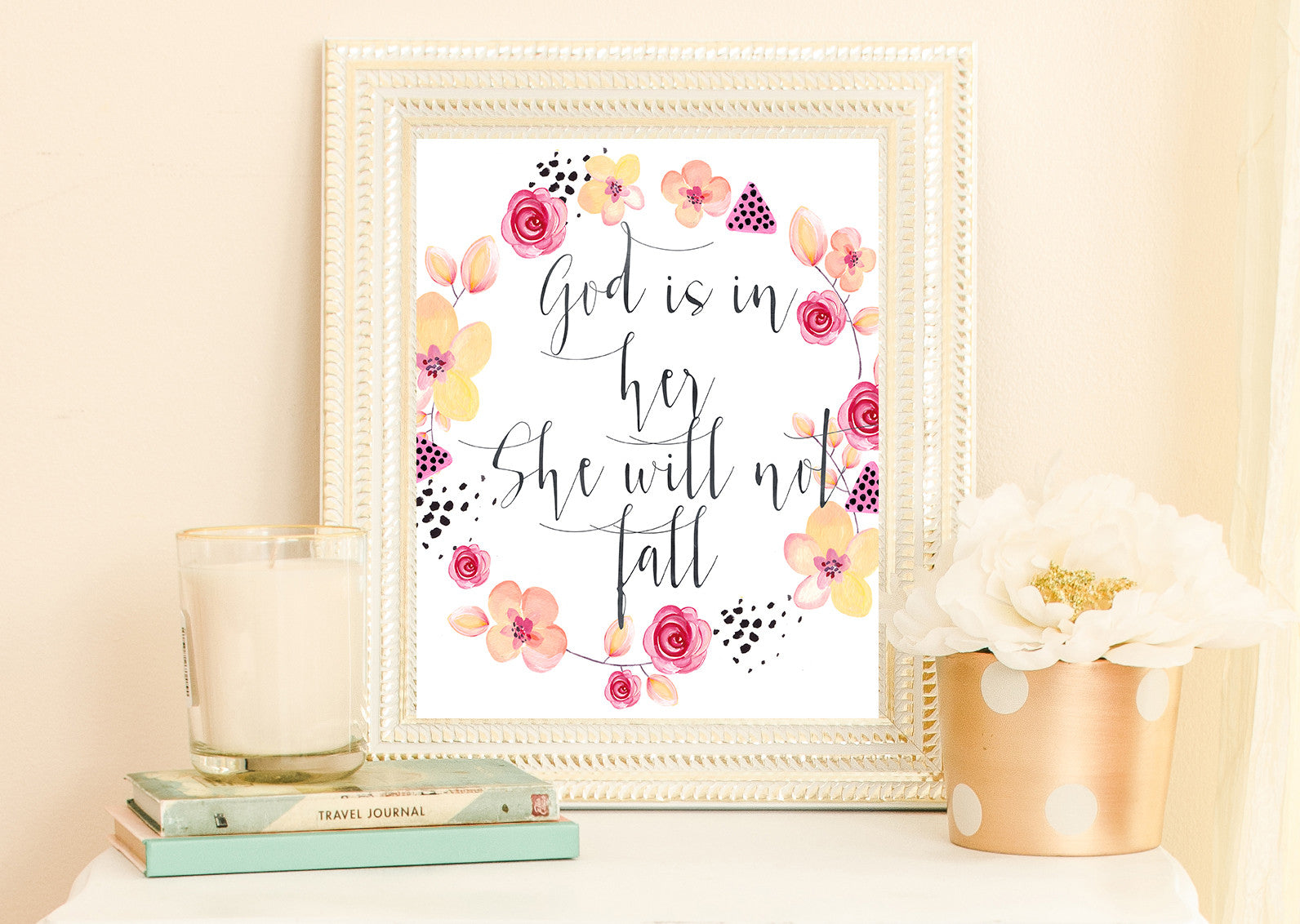 Scripture Art Print by Beau Typographie