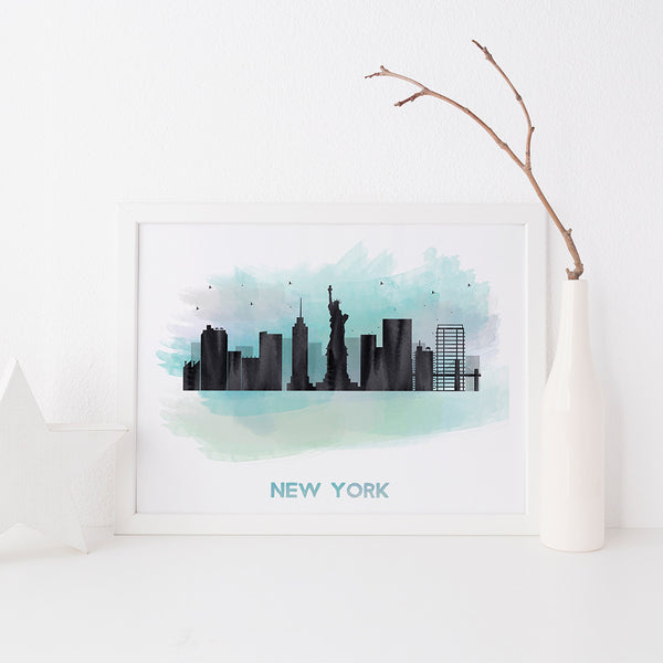 New York Skyline art print by Beau Typographie