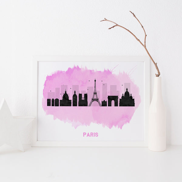 Paris Skyline art print by Beau Typographie