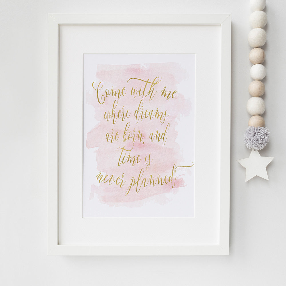 Peter Pan Quote Art print by Beau Typographie