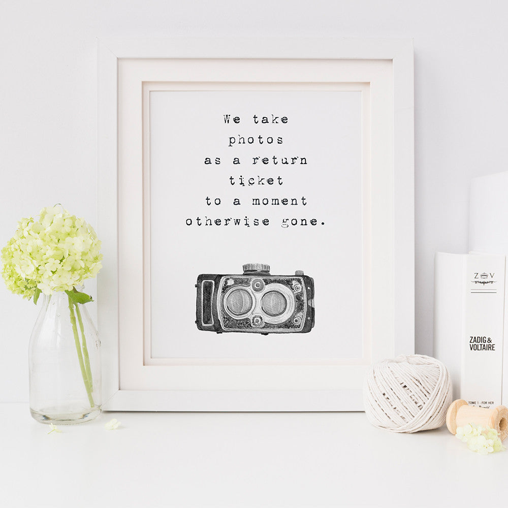 Photography Quote Typography Print by Beau Typographie