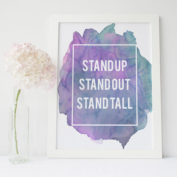 Inspirational quote typography print