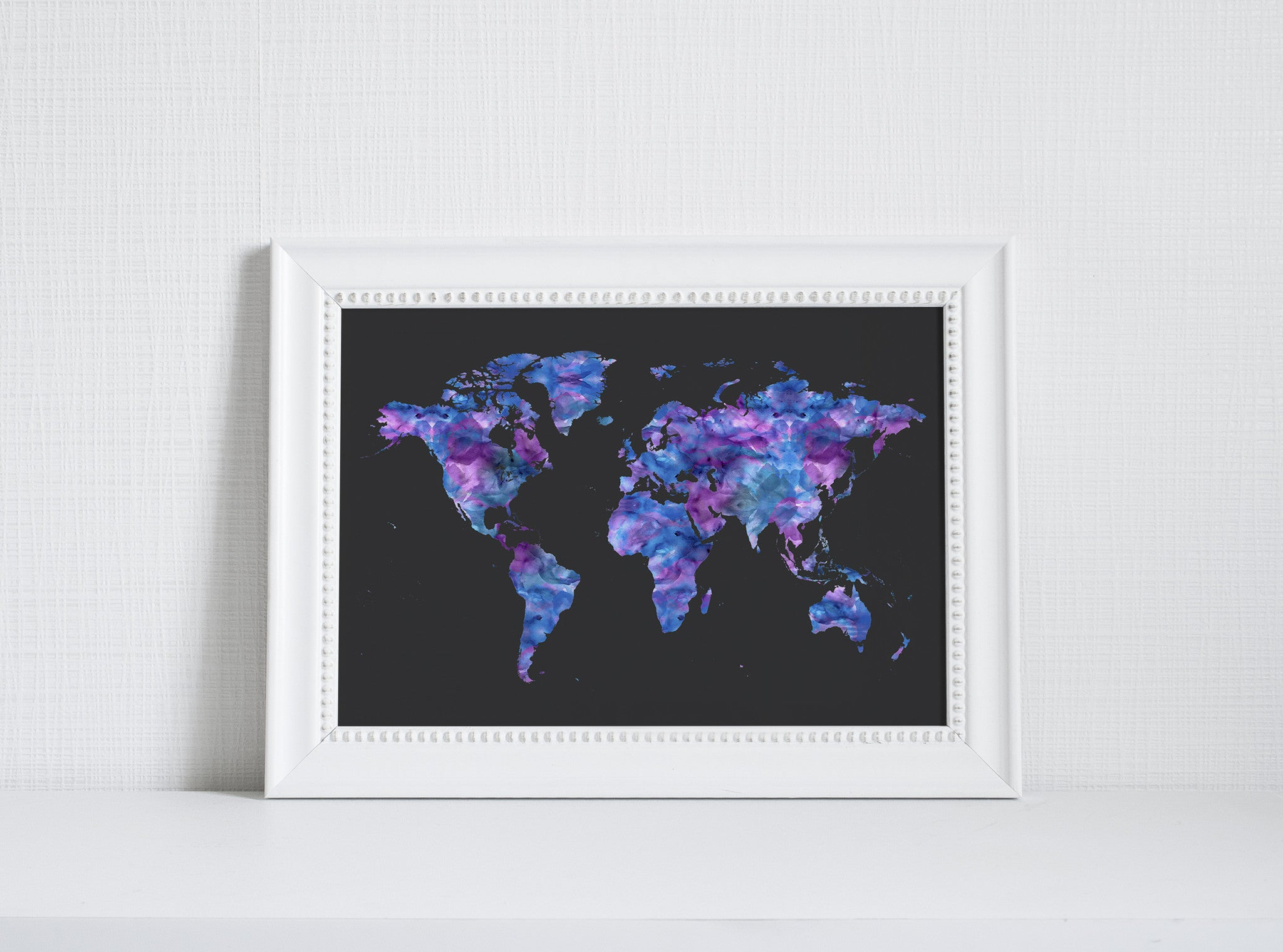 World Map Art Print by Beau Typographie