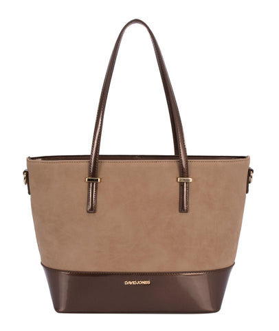 Small, smart two-tone shopper