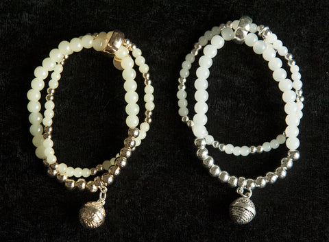 Beautiful double agate beads bracelet