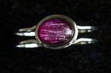 Stunning Chrome Bangle with Coloured Resin Stones