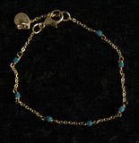 Delicate Chain Bracelet with Tiny Stones