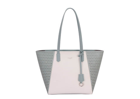 Smart, two-tone, zipped shopper
