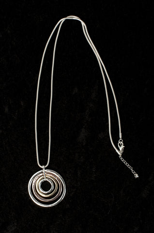 Long Multi Ring Necklace