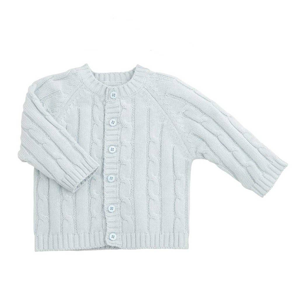 Elegant Baby - Blue Classic Cable Sweater
