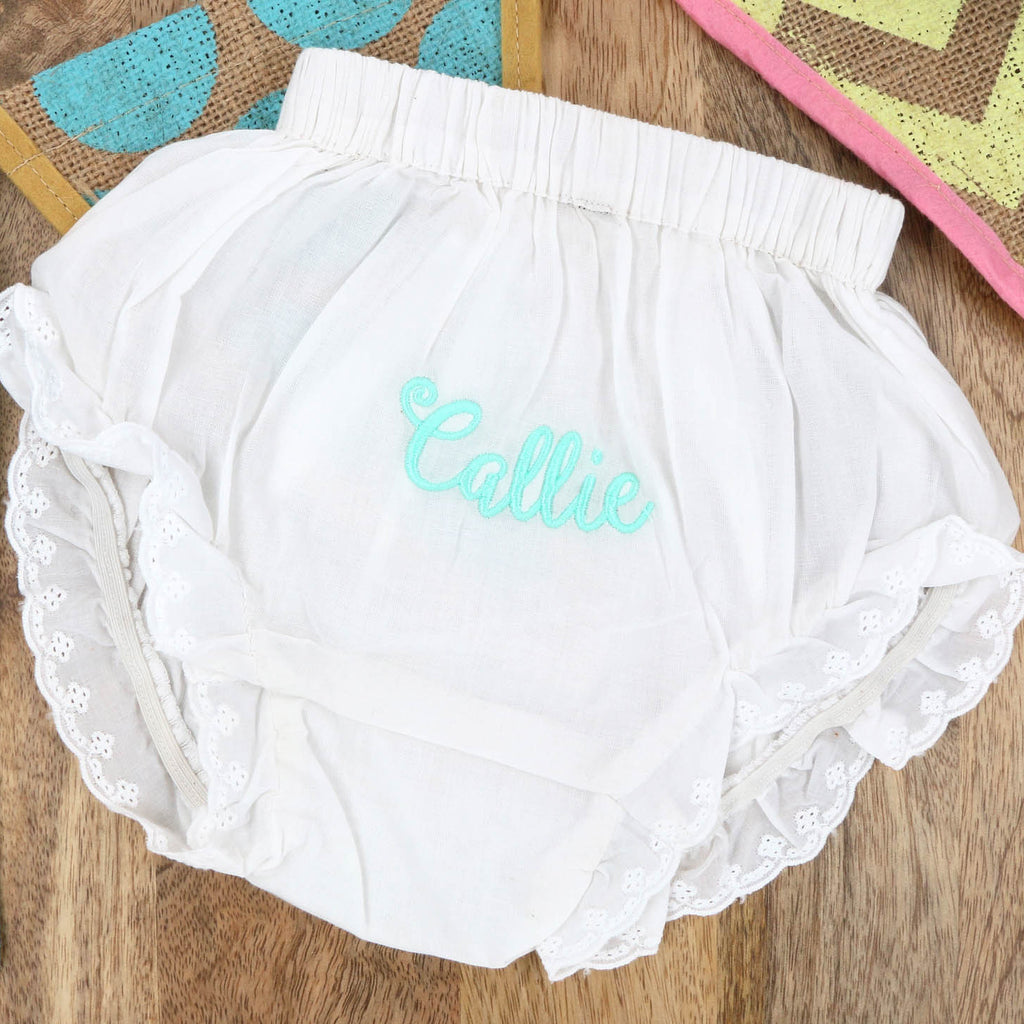 Eyelet Baby Bloomers