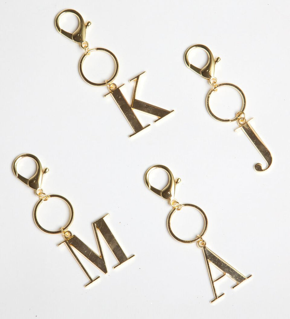 8 Oak Lane - Gold Initial Keychain
