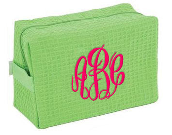 Waffle Knit Large Cosmetic Bags