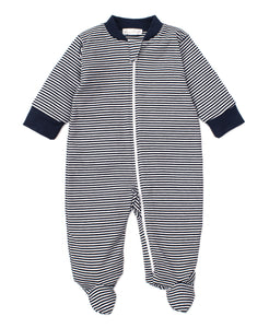Kissy Kissy Striped Zipper Footie