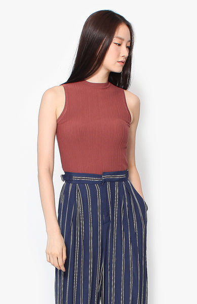 Abby Knit Top - Terracotta