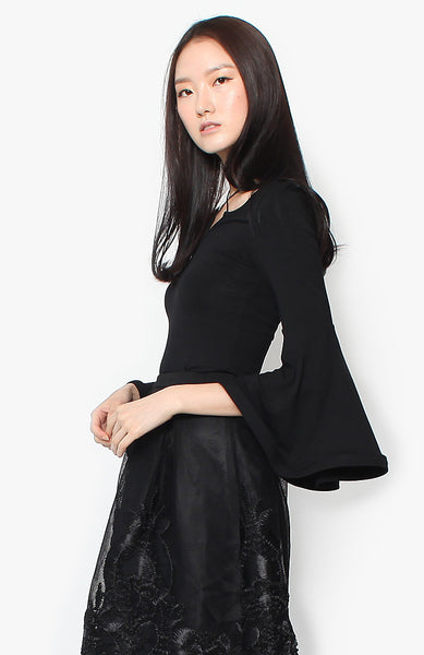 Nadine Bell Top - Black